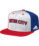 adidas Detroit Pistons NBA Pinwheel Snapback Hat