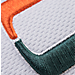 Alternate view of Zephyr Miami Hurricanes College Volley Visor Hat in Team Colors