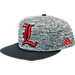 Front view of adidas Louisville Cardinals College Sideline Player Snapback Hat in FAS