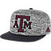 Front view of adidas Texas A&M Aggies College Sideline Player Snapback Hat in FAS