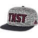Front view of adidas Texas State Bobcats College Sideline Player Snapback Hat in FAS