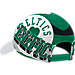 Back view of adidas Boston Celtics NBA Two-Toned Flex Performance Fitted Hat in White/Team