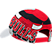 Back view of adidas Chicago Bulls NBA Two-Toned Flex Performance Fitted Hat in White/Team