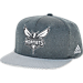 Front view of adidas Charlotte Hornets NBA Textured Visor Snapback Hat in Team Colors