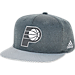Front view of adidas Indiana Pacers NBA Textured Visor Snapback Hat in Team Colors