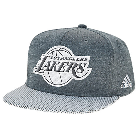 adidas Los Angeles Lakers NBA Textured Visor Snapback Hat