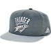 Front view of adidas Oklahoma City Thunder NBA Textured Visor Snapback Hat in Team Colors