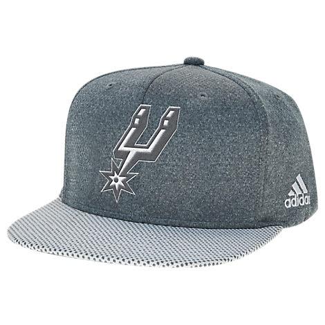 adidas San Antonio Spurs NBA Textured Visor Snapback Hat
