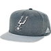 Front view of adidas San Antonio Spurs NBA Textured Visor Snapback Hat in Team Colors
