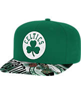 adidas Boston Celtics NBA Sublimated Visor Snapback Hat