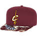 Front view of adidas Cleveland Cavaliers NBA Sublimated Visor Snapback Hat in Team Colors