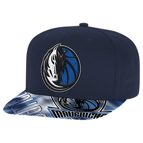 adidas Dallas Mavericks NBA Sublimated Visor Snapback Hat
