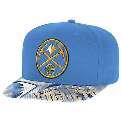 adidas Denver Nuggets NBA Sublimated Visor Snapback Hat