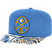 Front view of adidas Denver Nuggets NBA Sublimated Visor Snapback Hat in Team Colors