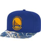 adidas Golden State Warriors NBA Sublimated Visor Snapback Hat
