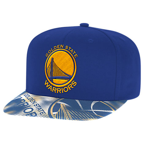 adidas Golden State Warriors NBA Sublimated Visor Snapback Hat