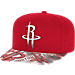 Front view of adidas Houston Rockets NBA Sublimated Visor Snapback Hat in Team Colors