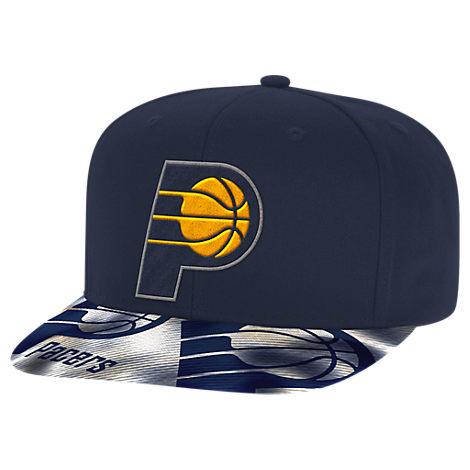 adidas Indiana Pacers NBA Sublimated Visor Snapback Hat