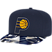 Front view of adidas Indiana Pacers NBA Sublimated Visor Snapback Hat in Team Colors
