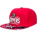 Front view of adidas Los Angeles Clippers NBA Sublimated Visor Snapback Hat in Team Colors