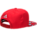 Back view of adidas Los Angeles Clippers NBA Sublimated Visor Snapback Hat in Team Colors