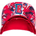 Alternate view of adidas Los Angeles Clippers NBA Sublimated Visor Snapback Hat in Team Colors