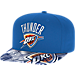 Front view of adidas Oklahoma City Thunder NBA Sublimated Visor Snapback Hat in Team Colors