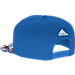 Back view of adidas Oklahoma City Thunder NBA Sublimated Visor Snapback Hat in Team Colors