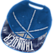 Alternate view of adidas Oklahoma City Thunder NBA Sublimated Visor Snapback Hat in Team Colors