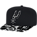 Front view of adidas San Antonio Spurs NBA Sublimated Visor Snapback Hat in Team Colors