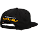 Back view of adidas Golden State Warriors NBA Snapback Hat in Team Colors