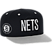 Front view of Men's adidas Brooklyn Nets NBA 2016 Draft Snapback Hat in Team Colors