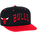 Front view of Men's adidas Chicago Bulls NBA 2016 Draft Snapback Hat in Team Colors