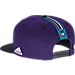 Back view of Men's adidas Charlotte Hornets NBA 2016 Draft Snapback Hat in Team Colors