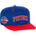 Front view of Men's adidas Detroit Pistons NBA 2016 Draft Snapback Hat in Team Colors