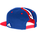 Back view of Men's adidas Detroit Pistons NBA 2016 Draft Snapback Hat in Team Colors