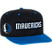Front view of Men's adidas Dallas Mavericks NBA 2016 Draft Snapback Hat in Team Colors