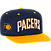 Front view of Men's adidas Indiana Pacers NBA 2016 Draft Snapback Hat in Team Colors