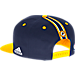 Back view of Men's adidas Indiana Pacers NBA 2016 Draft Snapback Hat in Team Colors