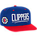 Front view of Men's adidas Los Angeles Clippers NBA 2016 Draft Snapback Hat in Team Colors