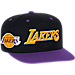Front view of Men's adidas Los Angeles Lakers NBA 2016 Draft Snapback Hat in Team Colors