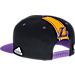 Back view of Men's adidas Los Angeles Lakers NBA 2016 Draft Snapback Hat in Team Colors