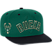 Front view of Men's adidas Milwaukee Bucks NBA 2016 Draft Snapback Hat in Team Colors