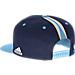 Back view of Men's adidas Memphis Grizzlies NBA 2016 Draft Snapback Hat in Team Colors
