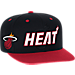 Front view of Men's adidas Miami Heat NBA 2016 Draft Snapback Hat in Team Colors