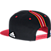 Back view of Men's adidas Miami Heat NBA 2016 Draft Snapback Hat in Team Colors