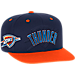 Front view of Men's adidas Oklahoma City Thunder NBA 2016 Draft Snapback Hat in Team Colors