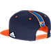 Back view of Men's adidas Oklahoma City Thunder NBA 2016 Draft Snapback Hat in Team Colors