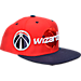 Front view of Men's adidas Washington Wizards NBA 2016 Draft Snapback Hat in Team Colors