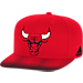 Front view of adidas Chicago Bulls NBA Sub Vize Snapback Hat in Team Colors